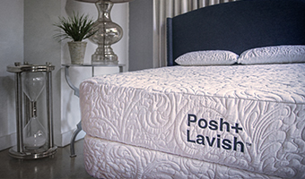 Close up photo of Posh Lavish Mattress in bedroom Setting