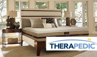 Therapedic Mattress in Lavish bedroom Setting