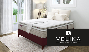 Velika Mattress in White Bedroom Setting