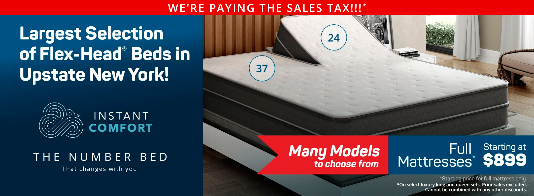 Largest Selection of Flex head beds in Upstate NY
